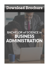 business administration brochure download button