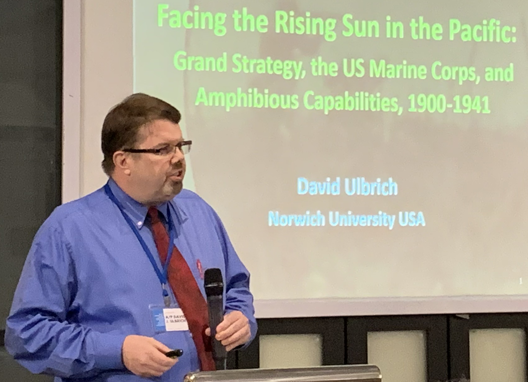David Ulbrich presenting at a conference