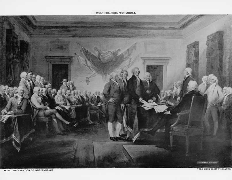 painting depicting the declaration of independence hearings
